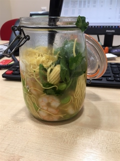 Prawn noodles in a posh pot