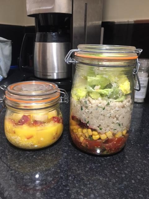 salad jar vegan
