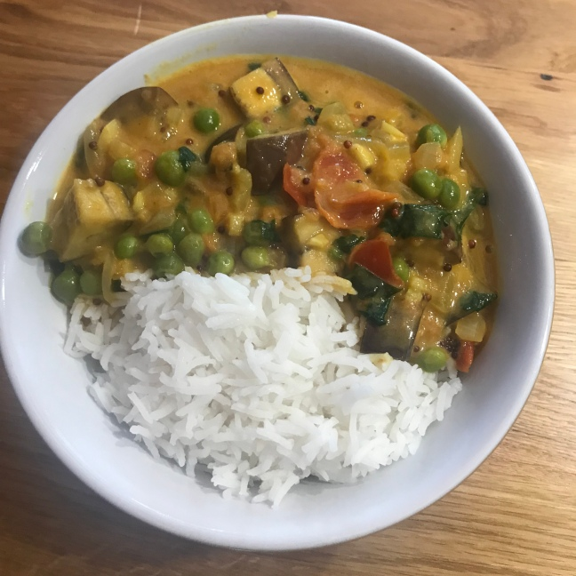 Pea and Aubergine Curry