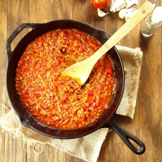 Red Pepper and Lentil Ragu